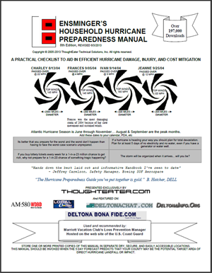 ThoughtEater presents Ensminger's Hurricane Prep Manual